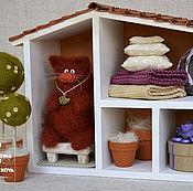 Куклы и игрушки handmade. Livemaster - original item The HOUSE red cat. Handmade.