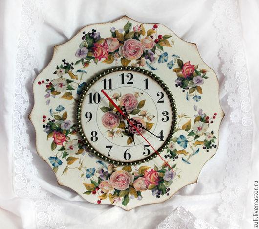 """Часы для дома ручной работы. Ярмарка Мастеров - ручная работа. Купить Часы """"Королева Лета"""". Handmade. Часы, Декупаж часы"""