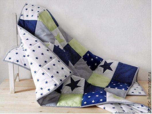 Пледы и одеяла ручной работы. Ярмарка Мастеров - ручная работа. Купить Детское легкое одеяло (покрывало) на кроватку.. Handmade.