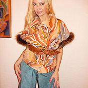 Одежда ручной работы. Ярмарка Мастеров - ручная работа жилет теплый с мехом лисы- Сказка. Handmade.