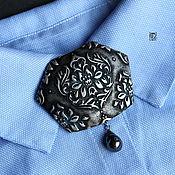 Украшения handmade. Livemaster - original item A large brooch at the collar of Polimeri clay. Handmade.