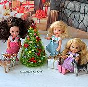 Куклы и игрушки ручной работы. Ярмарка Мастеров - ручная работа Нежные платья для кукол 10-11 см. Handmade.