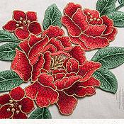 Материалы для творчества handmade. Livemaster - original item Peerless embroidery, applique, Lucille. Handmade.