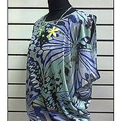 Одежда ручной работы. Ярмарка Мастеров - ручная работа Платье с рисунком Крылья бабочки. Handmade.
