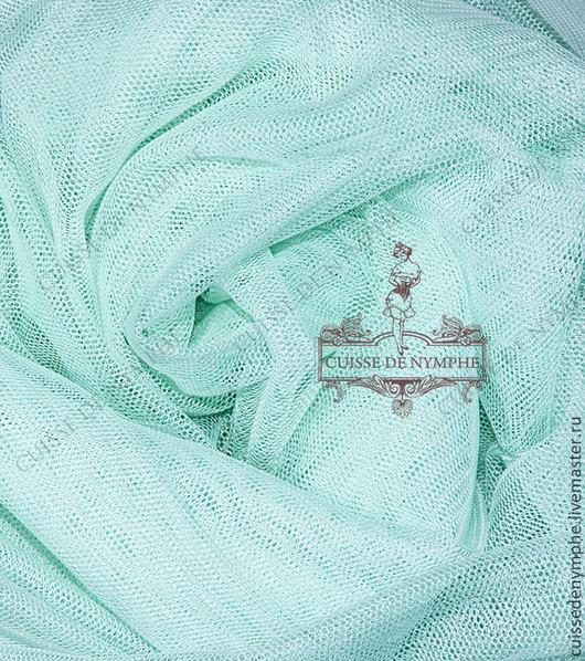 Шитье ручной работы. Ярмарка Мастеров - ручная работа. Купить Фатин стрейч, холодный мятный (cool mint) LCR-377. Handmade.