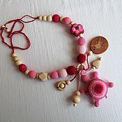 """Одежда ручной работы. Ярмарка Мастеров - ручная работа Слингобусы с игрушкой-погремушкой """" Розовая черепашка"""". Handmade."""