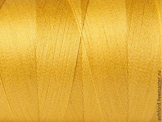 Другие виды рукоделия ручной работы. Ярмарка Мастеров - ручная работа. Купить Нитки для ткачества Хлопковые - жёлтый.. Handmade. Желтый