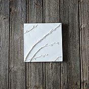 Для дома и интерьера ручной работы. Ярмарка Мастеров - ручная работа Март на пороге - панно из гипса. Handmade.
