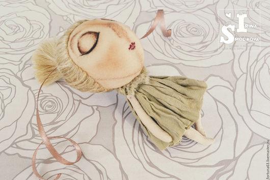 Человечки ручной работы. Ярмарка Мастеров - ручная работа. Купить текстильная куколка 10см. Handmade. Оливковый, кукла ручной работы
