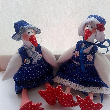 Куклы и игрушки ручной работы. Ярмарка Мастеров - ручная работа Гусь тильда. Гуси-пара. Handmade.