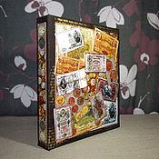Подарки к праздникам ручной работы. Ярмарка Мастеров - ручная работа Альбом для хранения монет. Handmade.