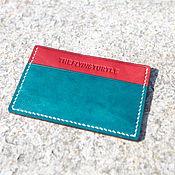 Сумки и аксессуары handmade. Livemaster - original item The image business card holder made from Horween leather ( card case ). Handmade.
