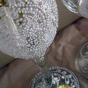 Свадебный салон ручной работы. Ярмарка Мастеров - ручная работа СВАДЕБНЫЙ НАБОР БОКАЛОВ. Handmade.