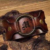 Браслет из бусин ручной работы. Ярмарка Мастеров - ручная работа Браслет из натуральной кожи, имитированной под старину. Handmade.