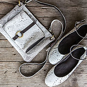 Обувь ручной работы handmade. Livemaster - original item Ballet shoes made of genuine Python leather. Handmade.