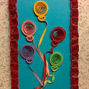Открытки ручной работы. Ярмарка Мастеров - ручная работа Открытка на день рождения в стиле квиллинг. Handmade.
