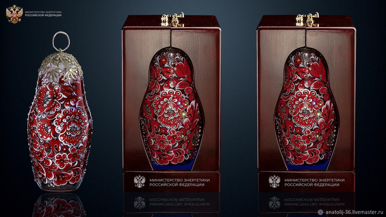 МАТРЕШКА - ШТОФ ПОД АЛКОГОЛЬ 750 ML, Народные сувениры, Таруса,  Фото №1