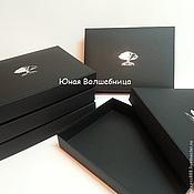 Сувениры и подарки ручной работы. Ярмарка Мастеров - ручная работа Большая черная коробка с тиснением логотипа - оригинальная упаковка. Handmade.