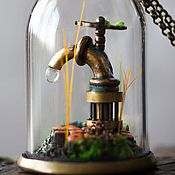 Украшения ручной работы. Ярмарка Мастеров - ручная работа Латунный краник в стеклянном клоше. Handmade.