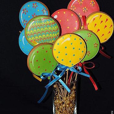 """Сувениры и подарки ручной работы. Ярмарка Мастеров - ручная работа Пряники """"Воздушные шарики"""". Handmade."""
