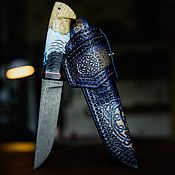 Сувениры и подарки handmade. Livemaster - original item Handmade knife made of Damascus steel