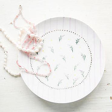 Посуда ручной работы. Ярмарка Мастеров - ручная работа Лаванда шебби.. Блюдце ручной работы, керамика. Handmade.
