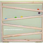 Куклы и игрушки handmade. Livemaster - original item Educational Wall Module for the run of the balls Montessori. Handmade.