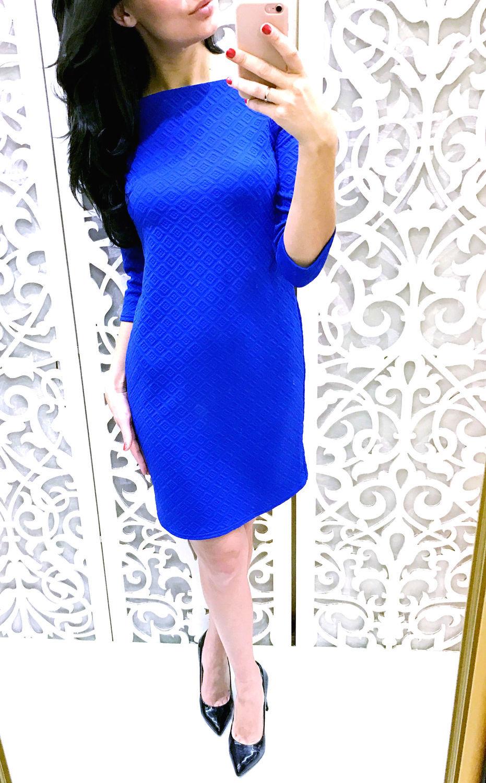 994f25e3434 Платья ручной работы. Ярмарка Мастеров - ручная работа. Купить Платье синее  летнее.