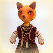 Куклы и игрушки ручной работы. Ярмарка Мастеров - ручная работа Игрушка Лиса. Лисица-молодица. Handmade.