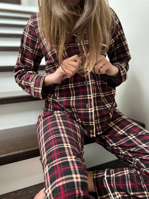 Хлопковая пижама «В клетку», Пижамы, Иваново,  Фото №1