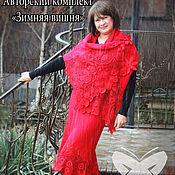 """Одежда ручной работы. Ярмарка Мастеров - ручная работа Авторский комплект """"Зимняя вишня"""". Handmade."""