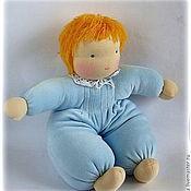 Куклы и игрушки ручной работы. Ярмарка Мастеров - ручная работа Вальдорфская кукла в пришивной одежке мягконабивная. Handmade.