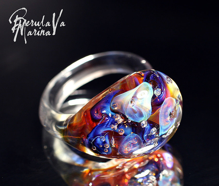 Как сделать кольцо из стекла
