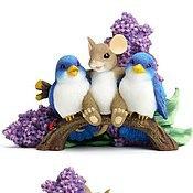"""Материалы для творчества handmade. Livemaster - original item Силиконовая форма для мыла  """"Мышонок с птичками в сирени"""". Handmade."""