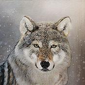 """Картины ручной работы. Ярмарка Мастеров - ручная работа Картина """"Волк"""" Акела на заказ. Handmade."""
