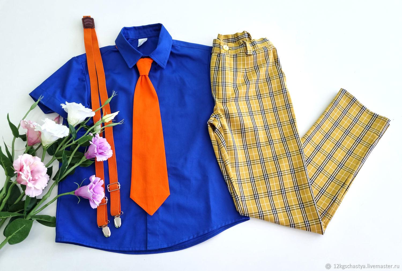 """Комплект для мальчика """"Стиляга"""" оранжевый галстук, Блузки и рубашки, Ижевск,  Фото №1"""