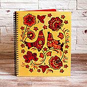 Русский стиль handmade. Livemaster - original item Hand-painted Photo album Birds gold. Handmade.