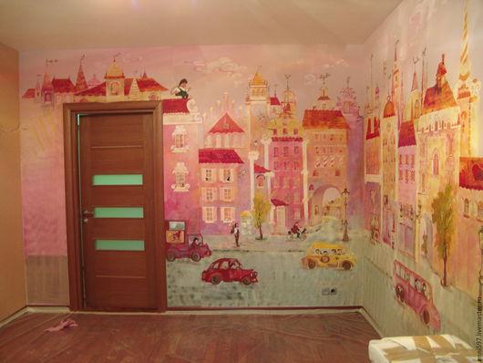 Город ручной работы. Ярмарка Мастеров - ручная работа. Купить роспись стен. Handmade. Роспись стен, роспись мебели