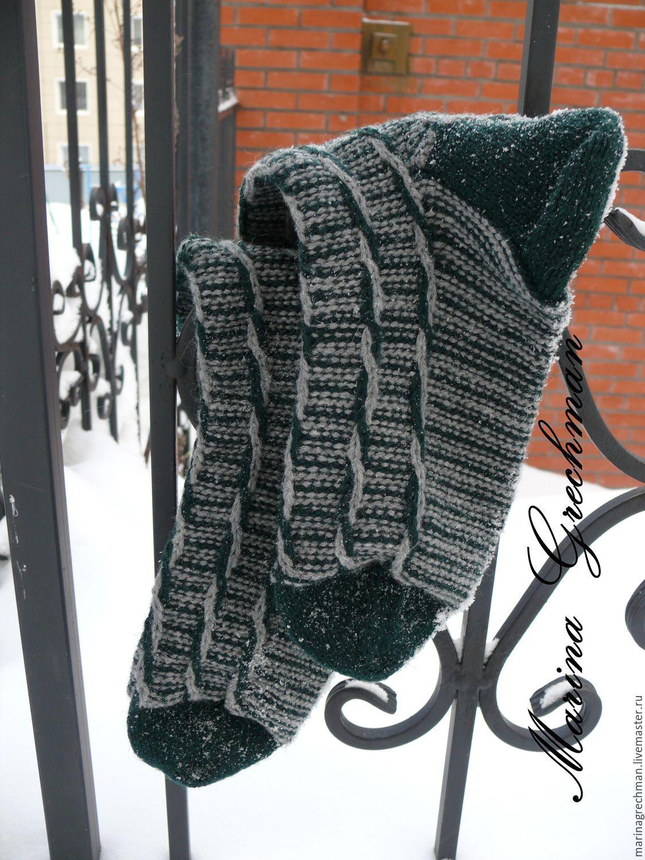 схема вязания мужские носки 42 размер