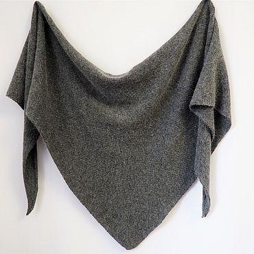 Accessories handmade. Livemaster - original item Knitted scarf shawl Bacchus Angora with Merino. Handmade.