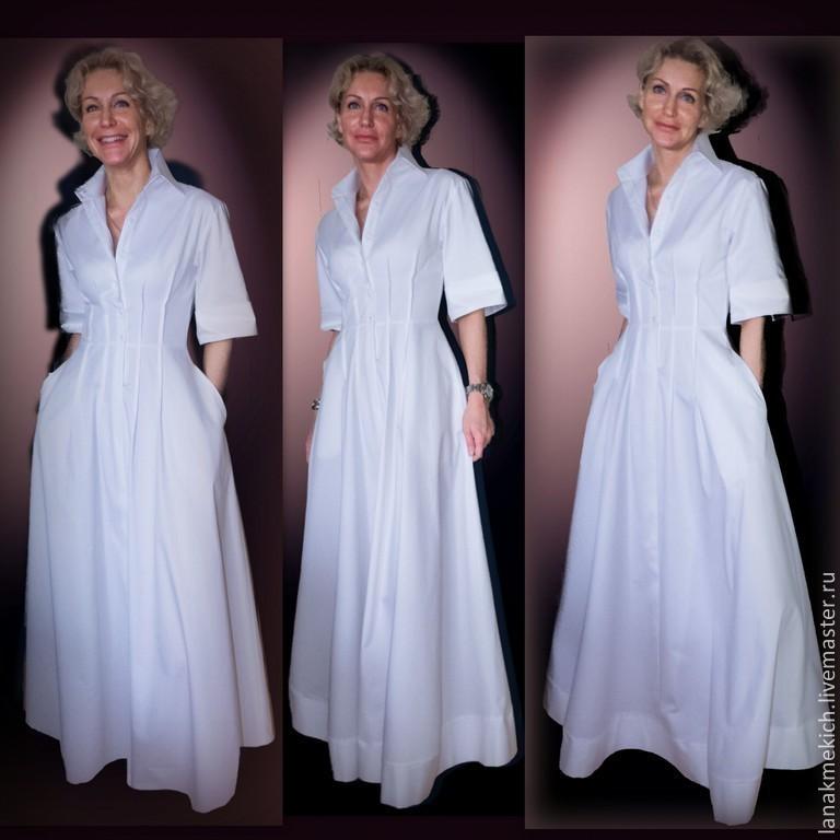 0b13e29fe90 Платье- рубашка из хлопка