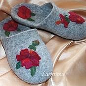 Обувь ручной работы handmade. Livemaster - original item Slippers Hibiscus. Handmade.