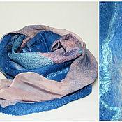 Аксессуары ручной работы. Ярмарка Мастеров - ручная работа шарф валяный Индиго. Handmade.