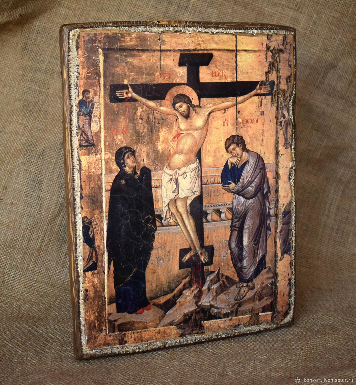 """Икона """"Распятие Иисуса Христа с предстоящими"""", Иконы, Симферополь,  Фото №1"""