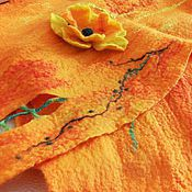 """Шарфы ручной работы. Ярмарка Мастеров - ручная работа Тёплый шарф из натуральной шерсти """"Оранж"""". Handmade."""
