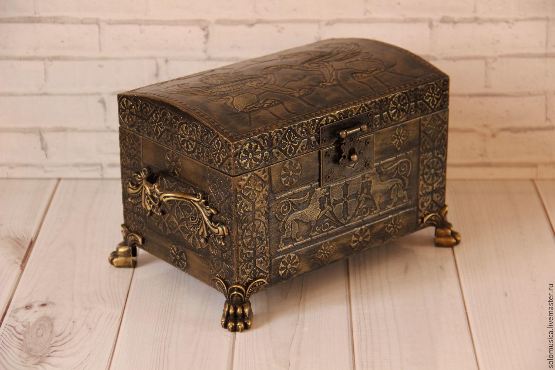 Jewelry box chest 'casket Bronze', Box, Krasnodar,  Фото №1
