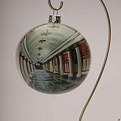 """Подарки к праздникам ручной работы. Ярмарка Мастеров - ручная работа набор новогодних шаров """"кольцевая линия"""". Handmade."""