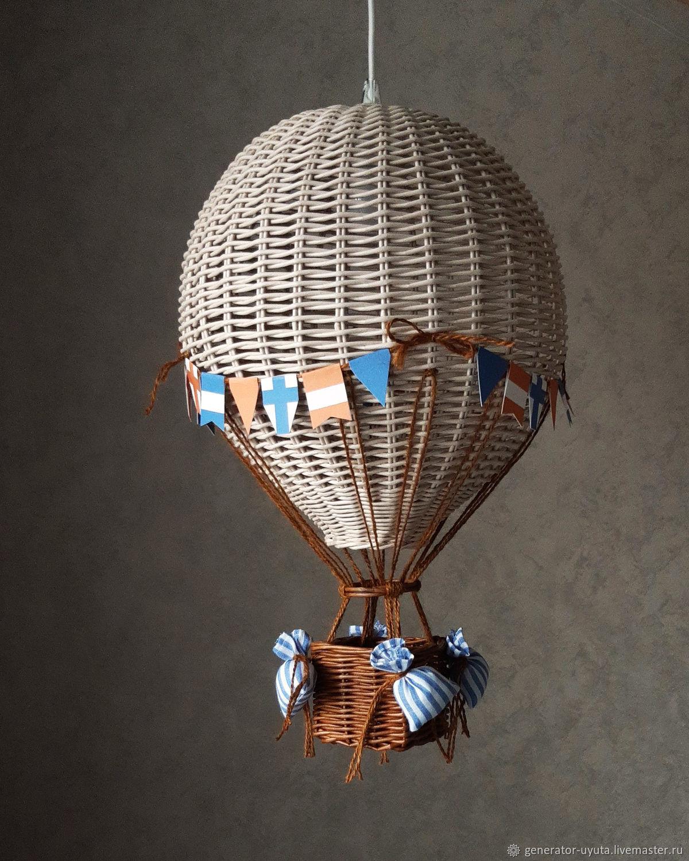 Плетеный ночник Воздушный шар, Ночники, Томск,  Фото №1