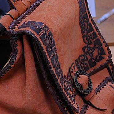 Сумки и аксессуары ручной работы. Ярмарка Мастеров - ручная работа Рюкзак рыжий с кельтским орнаментом. Handmade.