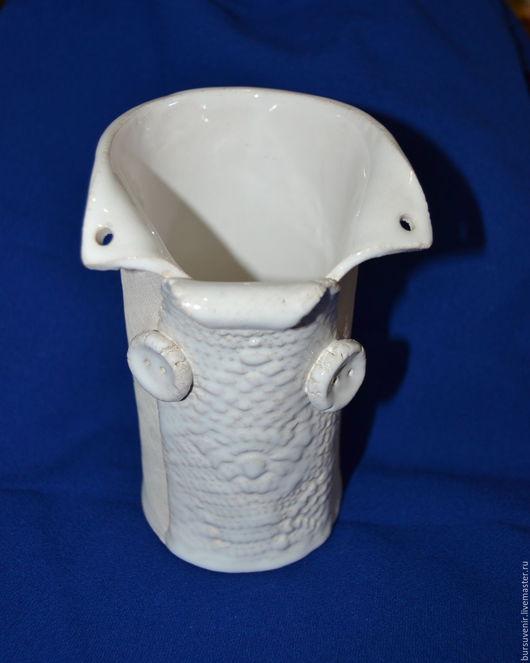 Вазы ручной работы. Ярмарка Мастеров - ручная работа. Купить ваза керамическая. Handmade. Белый, ваза для цветов